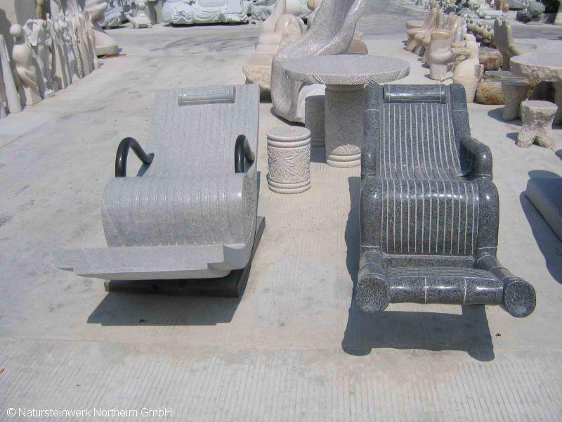 Detailansicht schaukelstuhl bild 1 natursteinwerk for Schaukelstuhl aussenbereich